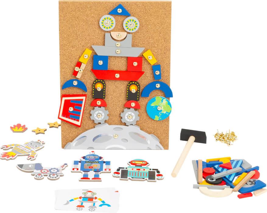Altmodische Roboter Und Schaukeln