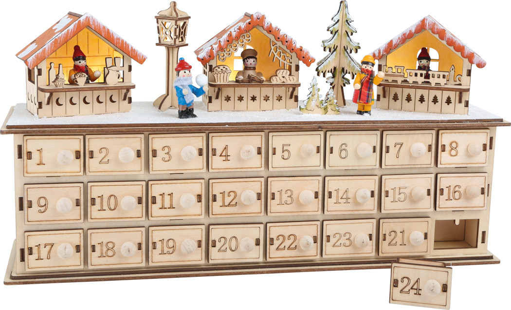adventskalender aus holz weihnachtsbasar g nstig bei. Black Bedroom Furniture Sets. Home Design Ideas