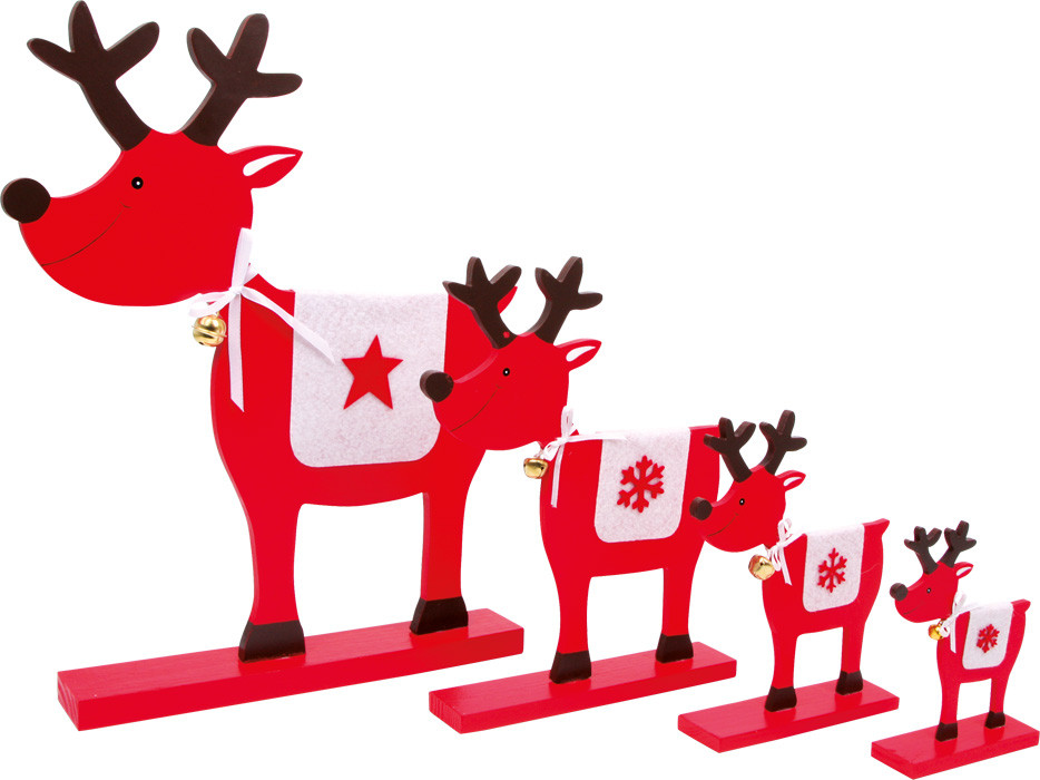 weihnachtsdeko deko elche stern 4er set g nstig bei kasperini online shop f r spielzeug. Black Bedroom Furniture Sets. Home Design Ideas