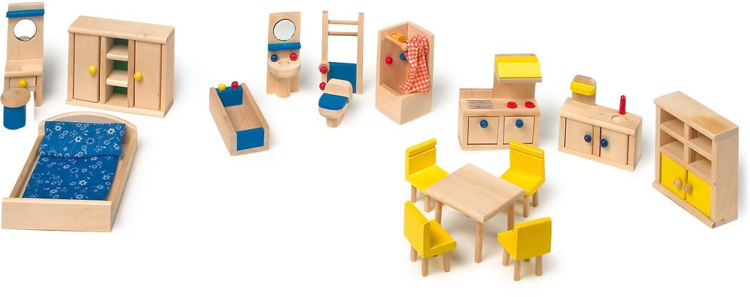 puppenhausm bel puppenm bel mit k che 18 teile g nstig bei kasperini online shop f r spielzeug. Black Bedroom Furniture Sets. Home Design Ideas