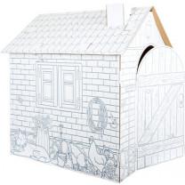 """Spielhaus """"Häuschen"""" aus Bastelkarton"""