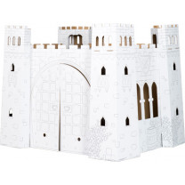 """Spielhaus """"Burg"""" aus Bastelkarton"""