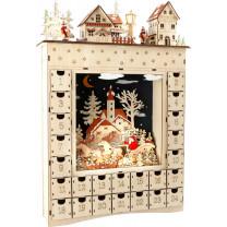 """Weihnachtsdeko Adventskalender aus Holz """"Wintertraum"""""""