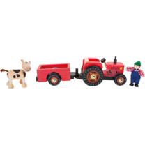 """Holzauto Traktor mit Anhänger """"Bauernhof"""""""