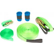 Gartenspielzeug Slackline Set inkl. Baumschutz