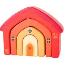 Holzbausteine Haus