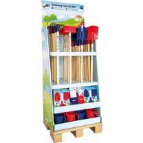 Display Gartenwerkzeuge für Kinder