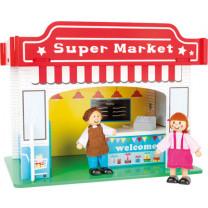 Spielhaus Supermarkt mit Zubehör