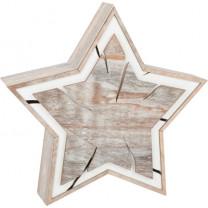 Leuchtstern Baumscheiben-Design