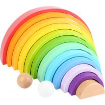 Holzbausteine Regenbogen XL