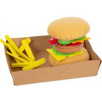Stoff-Hamburger mit Pommes
