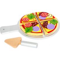 Stoff-Pizza mit Teller