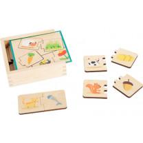 Lernspiel Holzpuzzle Tiere füttern