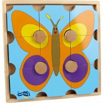 Holzpuzzle Bär & Schmetterling