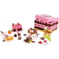 Kaufladen-Zubehör Süßigkeitenkiste, 39 Teile