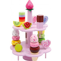 Kaufladen-Zubehör Etagere Süßigkeiten