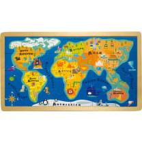 Holzpuzzle Rahmenpuzzle Weltkarte