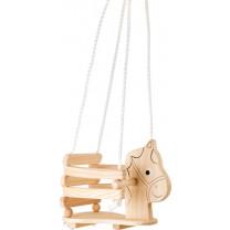 Schaukel Kinderschaukel aus Holz Pferd