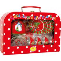 Picknickkorb Picknickkoffer Weihnachten, 15 tlg.