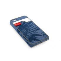Handyhülle iPhone 5 Schutzhülle Jeans blau.
