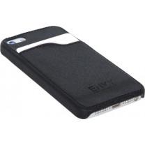 Handyhülle iPhone 5 Schutzhülle Lederimitat schwarz