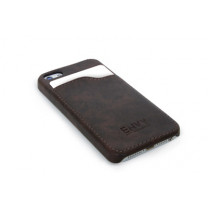 Handyhülle iPhone5 Schutzhülle Lederimitat braun.