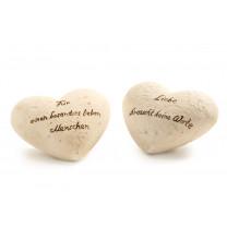 Keramikherzen der Zuneigung